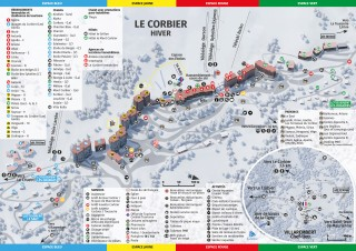 Plan station / Resort Map / Dorpsplattegrond